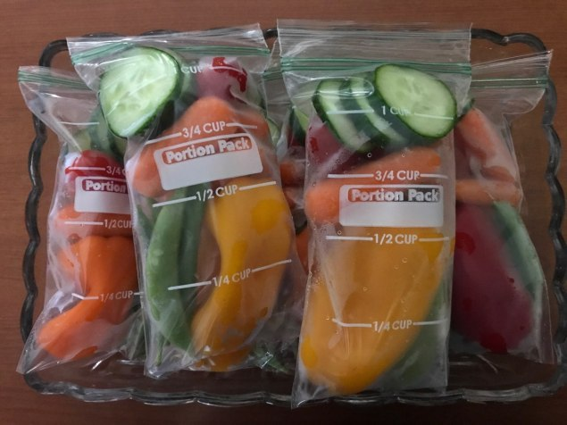 Pre-bagged vegetables