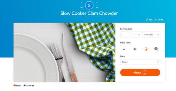 Recipe Builder for Slow Cooker Clam Chowder