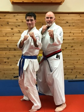 My son and his sensei
