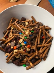 I made trail mix with David but this is not a WW friendly mix!