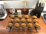 These are spice cake cupcakes I made them with pumpkin. they were very good, 6sp a piece.