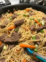 Pork Lo Mein 8sp per serving. It was very yummy and worth the effort.