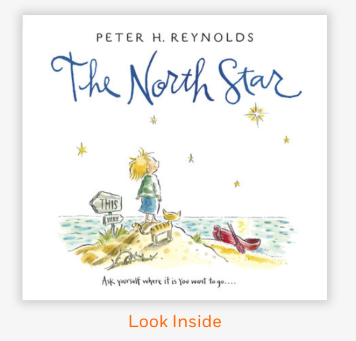 A beautiful book, check it out: https://www.penguinrandomhouse.com/books/140768/the-north-star-by-peter-h-reynolds/9780763636777/
